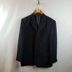 Vittorio St. Angelo Mens Four Button Blazer Black